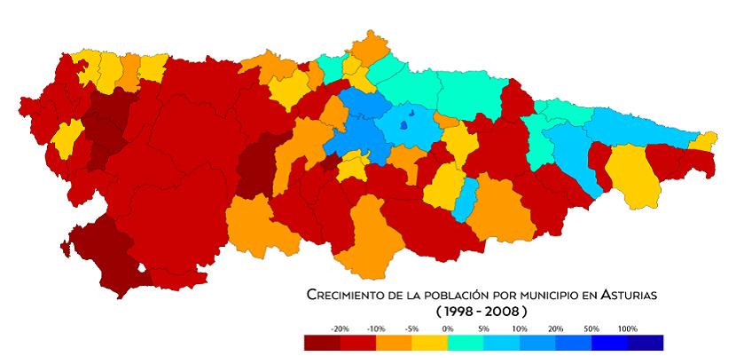 Crecimiento población Asturias
